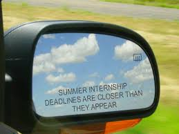 Grad school internships deadline approaching