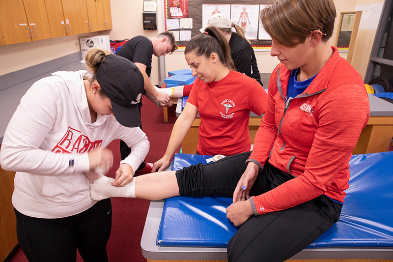 The Athletic Training master's program at the University of Louisiana at Lafayette has hands-on and clinical experiences