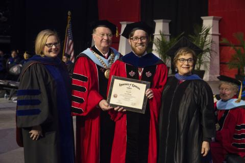 PhD in English Graduate Dr. James Coby from the Universty of Louisiana at Lafayette commencement ceremony