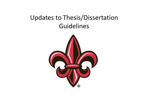 Dissertation thesis guide