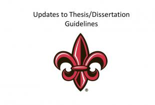 Updates to Thesis/Dissertation Guidelines